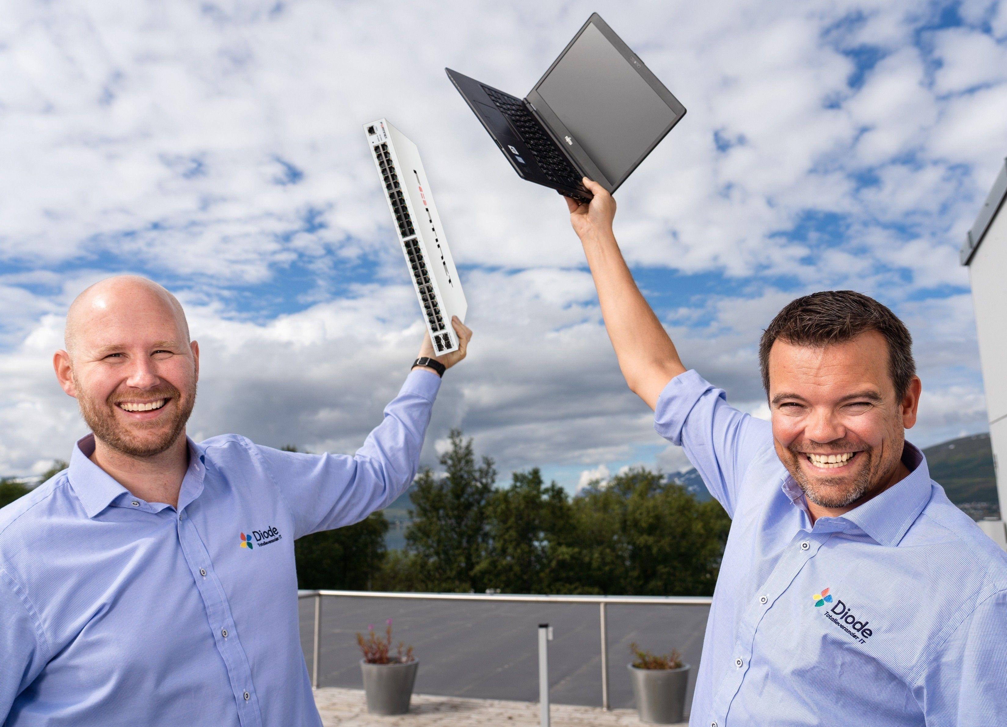 Andreas Breisjøberg (t.v.) og Roger Schaal opplever suksess med IT-bedriften Diode.